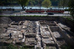 Archeologický výskum v štvrti Zuckermandel.