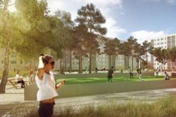 Nové športoviská a viac zelene by mala priniesť oddychová zóna medzi paneláky na Hviezdoslavovej ulici. Ľudia jej konkrétnu podobu budú môcť pripomienkovať.