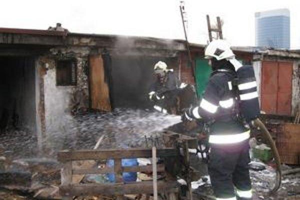 Zásah hasičov na Zátiší.