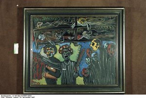 Frankl maľoval výjavy z Inferna ktoré prežil v koncentračnom tábore.