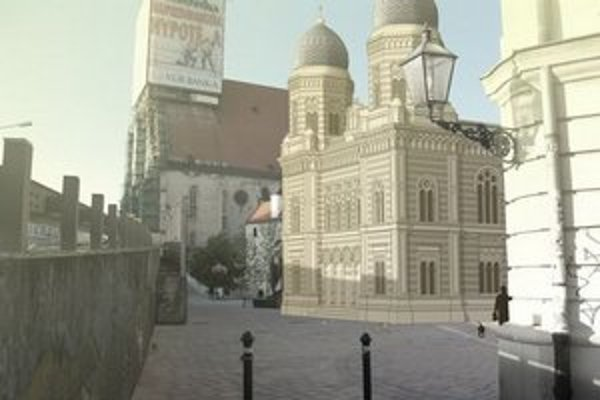 Synagógu zbúrali napriek protestom verejnosti pri stavbe Nového mosta.
