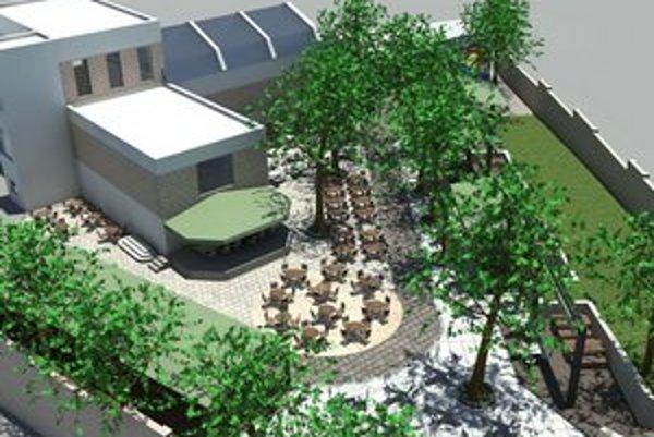Záhrada bude ako nová. Návštevníci by už nemali dlho čakať na pivo, pribudol nový výčap v jednom z jej kútov.