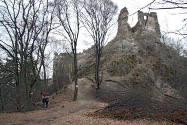 Hrad Šášov je vďaka bdigádam dobrovoľníkov viac viditeľný zdiaľky aj z predhradia.