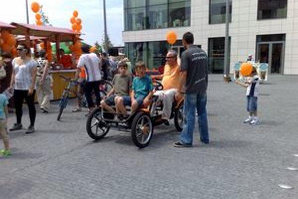"Rodinný ""bicykel"" na holandskom trhu."