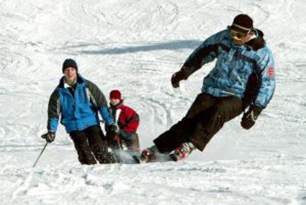 Podmienky na lyžovanie sú v stredisku ideálne.