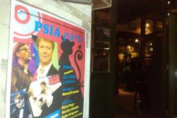 Psia párty sa konala v klube na Rebarborovej. Známe osobnosti vystupovali bez nároku na honorár.