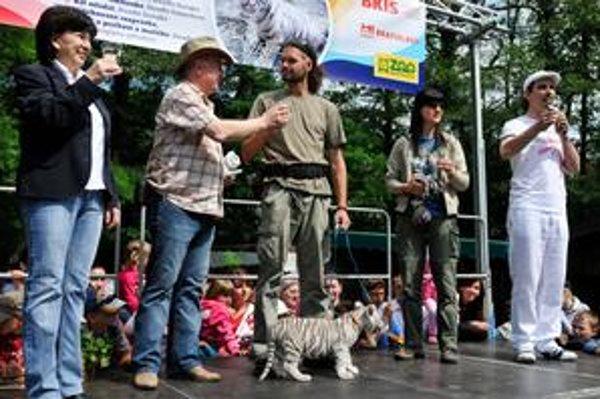 Krst bielej tigrice bol jednou z atrakcií tohtoročného Kultúrneho leta - rodinných zoologiád.