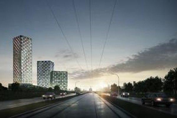 Vedľa Štrkoveckého jazera majú vyrásť tri výškové budovy.