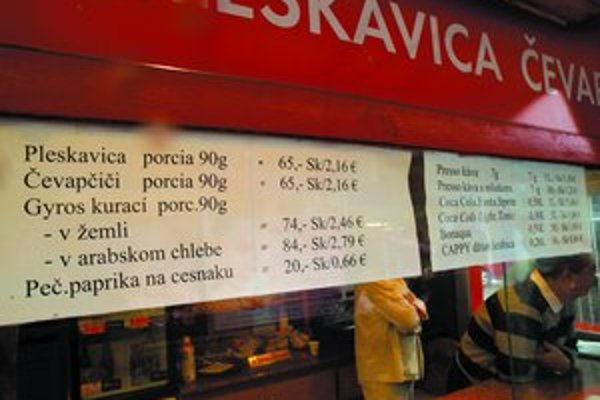 Eurám sa podriadili už aj ceny fastfoodov na vianočných trhoch.