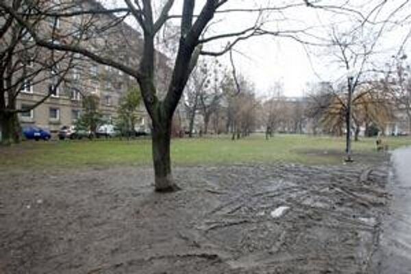 V parku medzi ulicami Ružová dolina, Trenčianska, Prievozská a Miletičova sa má riešiť zeleň aj parkovanie.