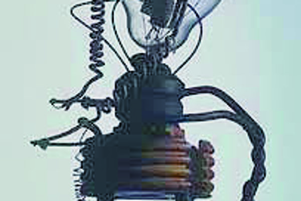 Experimentálna lampa, ktorú v r. 1904 používal J. A. Fleming.