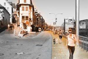 Jednoduchá drevená lávka by mohla dočasne vyriešiť mnohé bolesti Židovskej ulice.