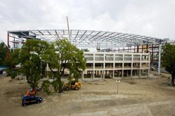 Nad betónovou konštrukciou, ktorá ostala z niekdajšieho Zimného štadióna Ondreja Nepelu, sa dvíha nový skelet. Začína sa tak črtať budúca podoba hlavnej haly, v ktorej sa majú odohrávať majstrovstvá sveta v hokeji v roku 2011. Práce vraj napredujú podľa p