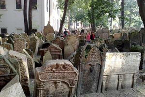 Starý židovský cintorínv Prahe sa dá prejsť len po vyznačených trasách.