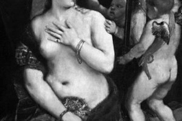 Tizian: Venuša pred zrkadlom. National Gallery of Art, Andrew W. Mellon Collection, Washington.
