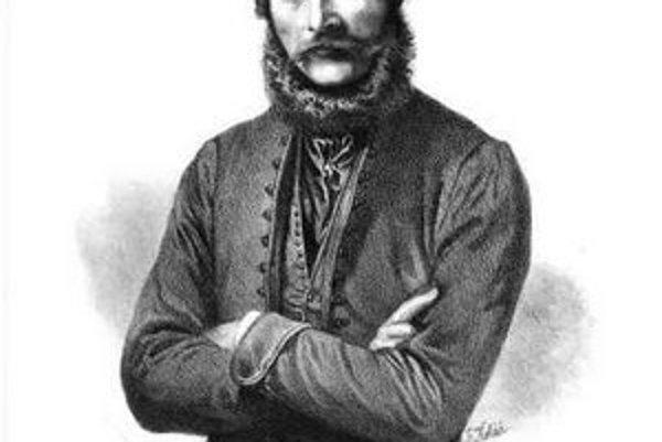 Portrétna litografia od Františka Kolářa s rukopisným textom a podpisom Ľ. Štúra z roku 1861.