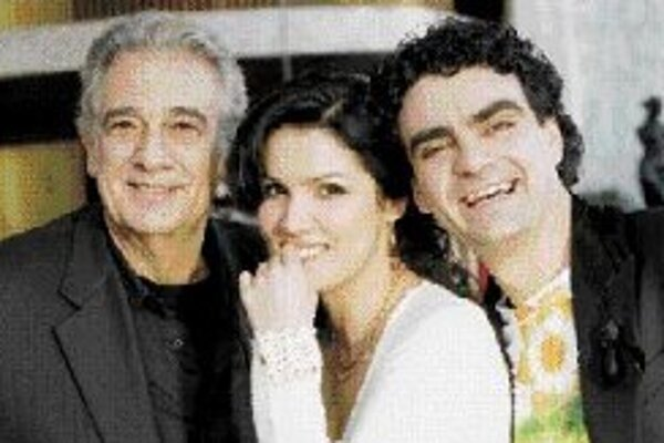 Plácido Domingo, Anna Netrebková a Rolando Villazón.