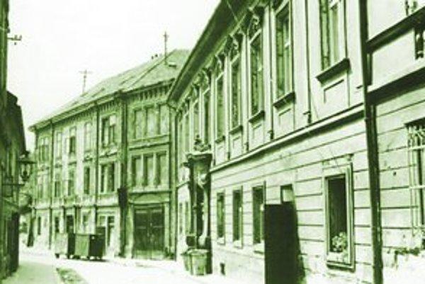 Koniec ulice Vydrica smerom k Dunaju okolo roku 1960.