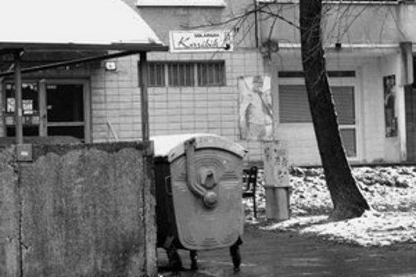 Malé prevádzky na Fedákovej ulici používajú spoločné kontajnery s obyvateľmi domov.