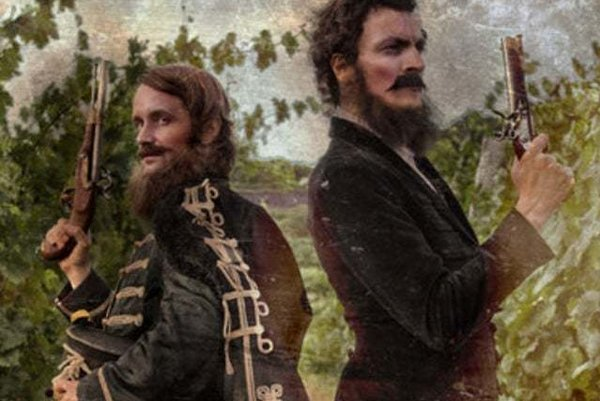 Lajos Kossuth a Ľudovít Štúr alias Juraj Hrčka a Ludwig Bagin vo filme Posledné dni Ľudovíta Štúra.