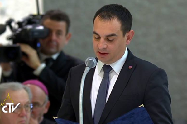 Rómsky splnomocnenec Peter Pollák vo Vatikáne.