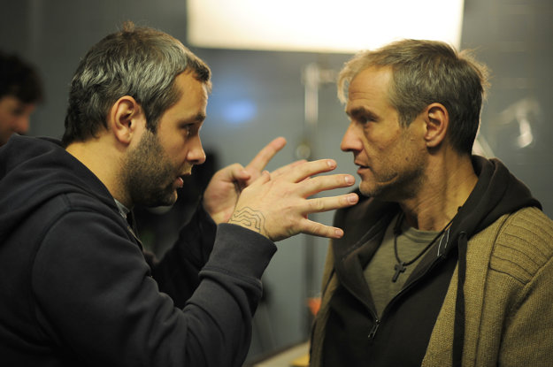 S Romanom Luknárom pri nakrúcaní pripravovaného projektu Dvanásty symbol.