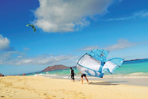 Pláž na Fuerteventura
