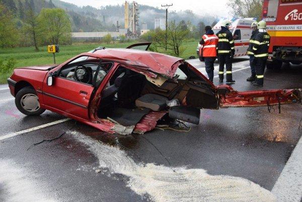 Peugeot po nehode.