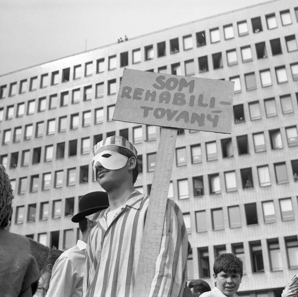 Majáles v Bratislave v roku 1966.