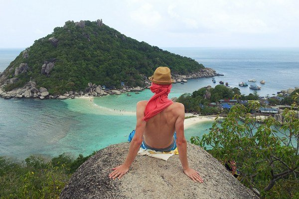 Ľubo Jurík na thajskom ostrove Koh-Nang-Yuan