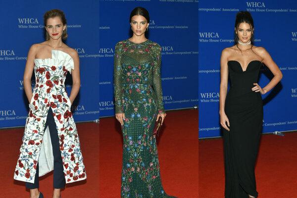 Zľava: Ema Watsonová, Emily Ratajkowski, Kendall Jennerová