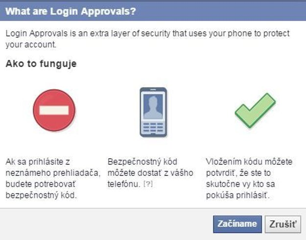 Návod na dvojfaktorové zabezpečenie Facebooku č.4.
