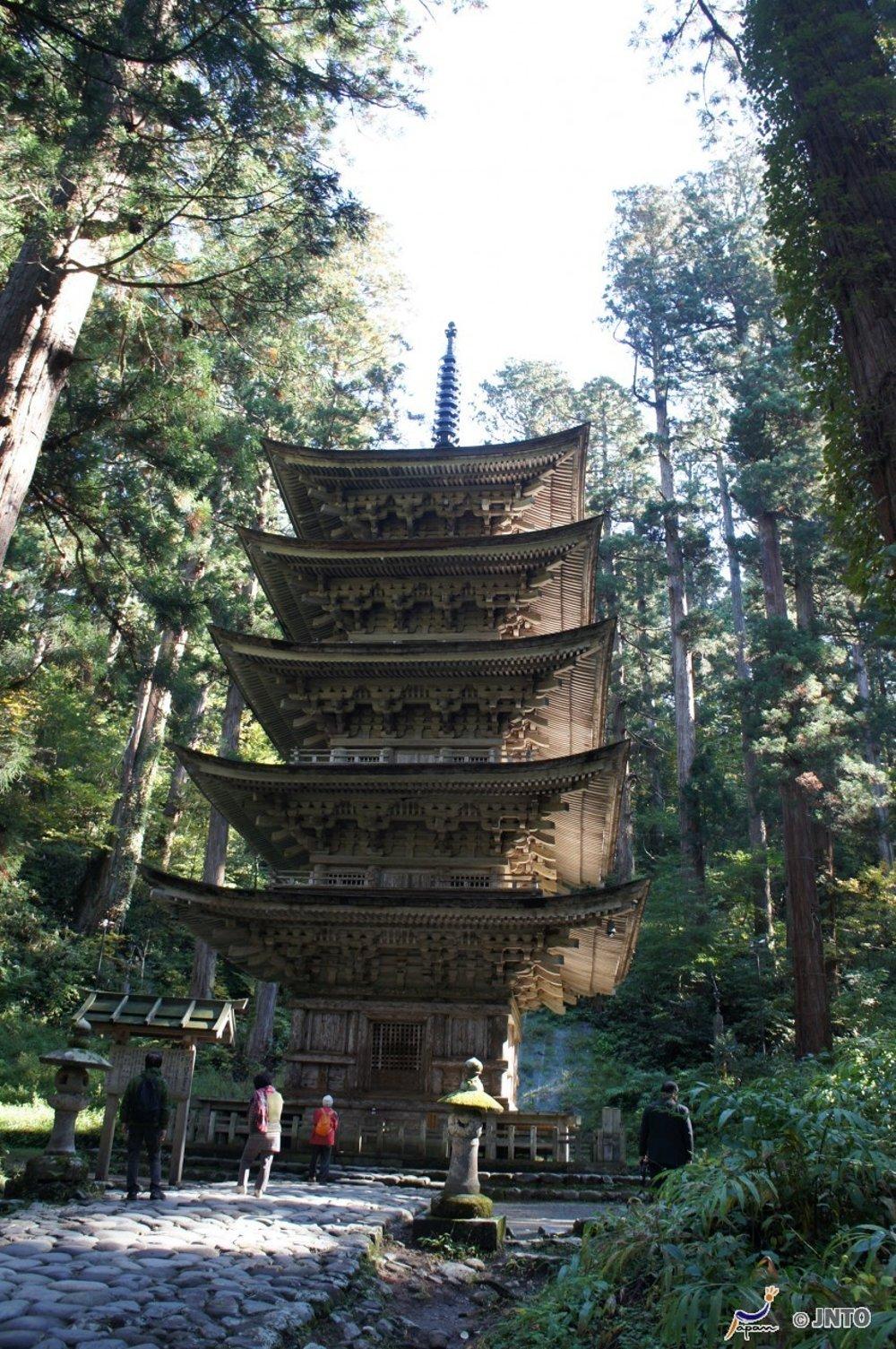 Pagoda Hagurosan Goju-no-to.
