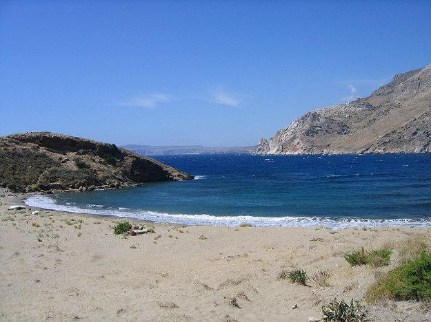 Pokojná pláž neďaleko Marmarisu.