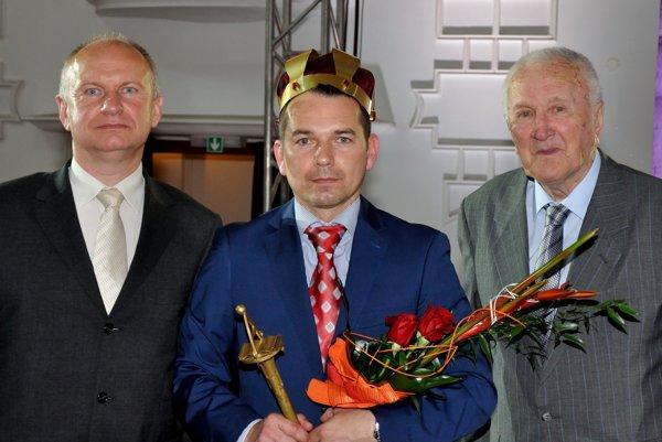 Ocenení pedagógovia. Jaroslav Vlčko (vľavo) a Karol Samuelčík (vpravo).