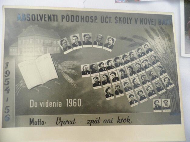 Maturantské tablo z roku 1956.