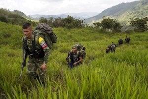 Povstalci z Revolučných ozbrojených síl Kolumbie (FARC).