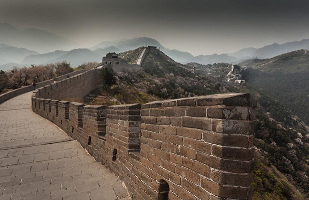 Veľký čínsky múr severne od Pekingu.