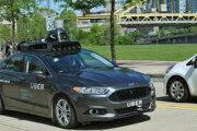Testovacie auto spoločnosti Uber.
