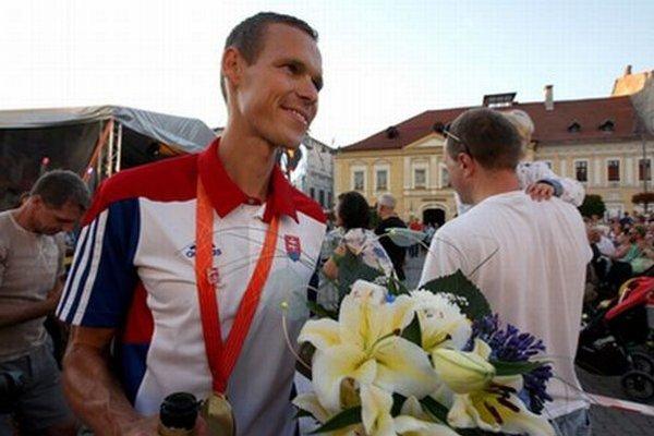 Matej Tóth počas nedávneho veľkolepého privítania v Banskej Bystrici.