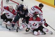 V zámorskom derby vyhrali Kanaďania nad Američanmi o gól.