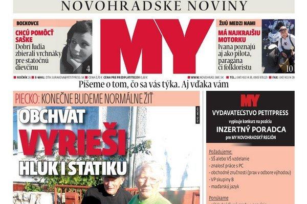MY Novohradské noviny.