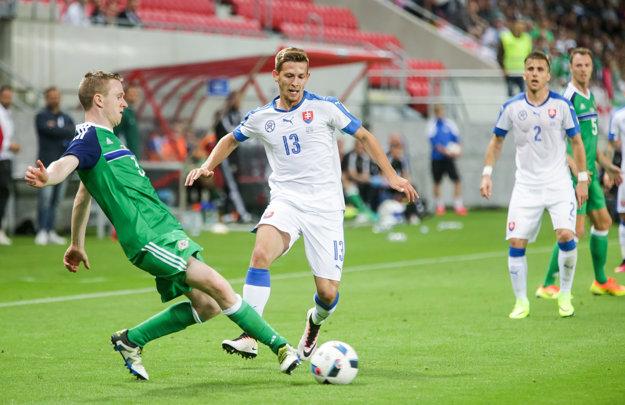 Patrik Hrošovský (uprostred) odohral skvelý zápas.