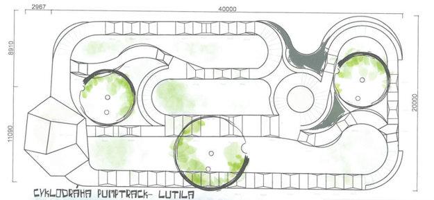 Takto by mala vyzerať cyklodráha v Lutile.