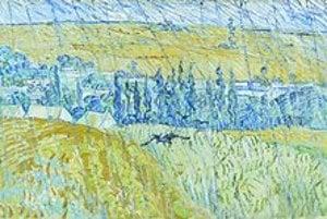 Vincent van Gogh: Dážď v Auvers (výrez), 1890.