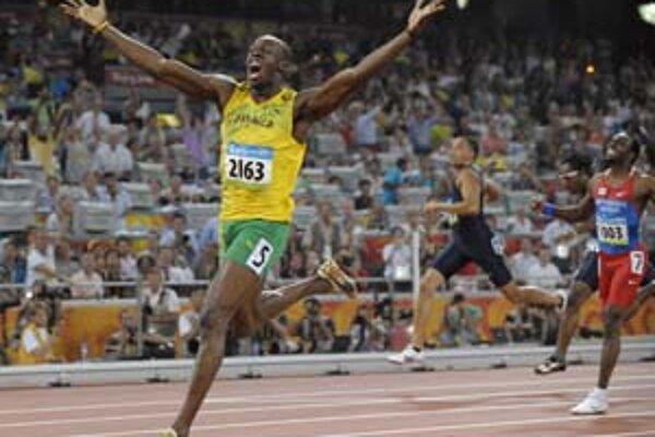 Dva šprintérske svetové rekordy zdobia Usaina Bolta z Jamajky.