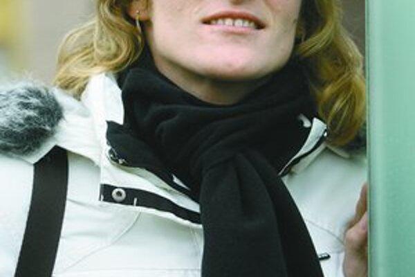 Lucia Klocová na martinskom námestí.