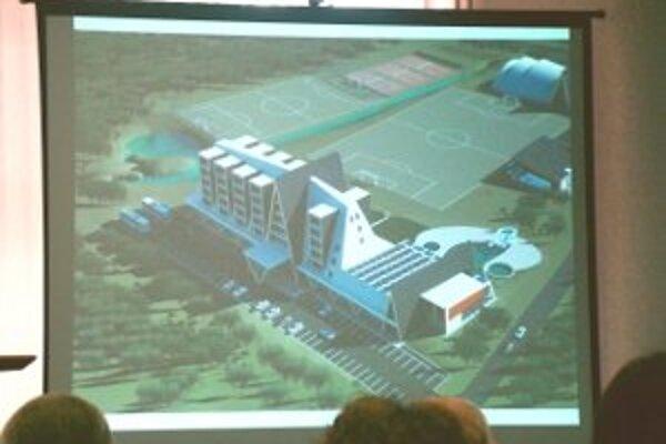 K pôvodnej športovej hale má pribudnúť hotel či plaváreň.