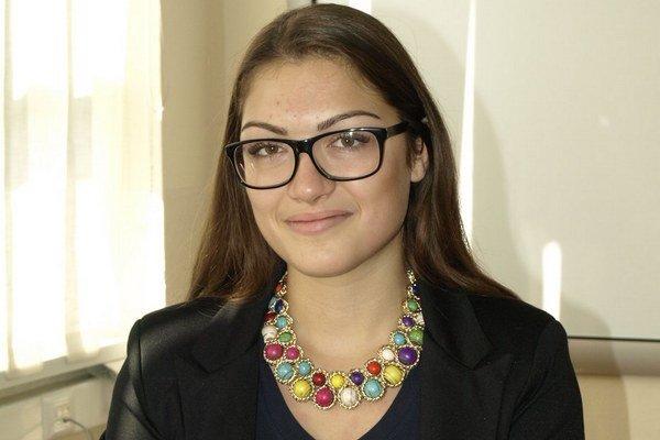 Adriana Poláková zo šurianskeho gymnázia.