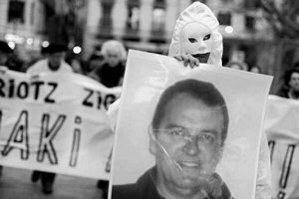 Proti rozsudku demonštrovali aj v Bilbau.